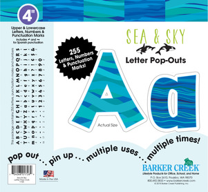 """NEW!! 4"""" Sea & Sky Letter Pop-Outs picture"""
