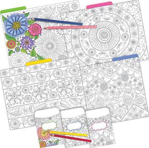 Folder/Pocket Set - Color Me! In My Garden picture