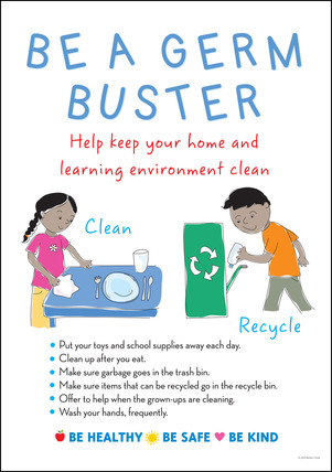 NEW! Poster - Be a Germ Buster picture
