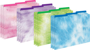 NEW!!  Tie-Dye and Ombré File Folders picture
