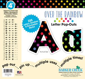 "Over the Rainbow 4"" Letter Pop-Outs picture"