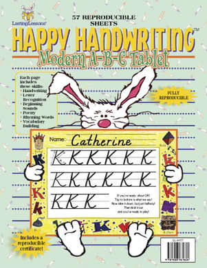 Happy Handwriting Modern ABC Tablet (downloadable PDF) picture