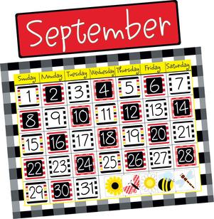 Buffalo Plaid & Wide Stripes Calendar Chart Set picture