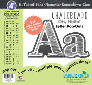 """4"""" Chalkboard Letter Pop-Outs picture"""
