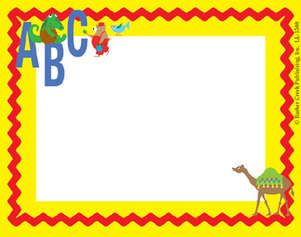 ABC Animals Name Tag picture