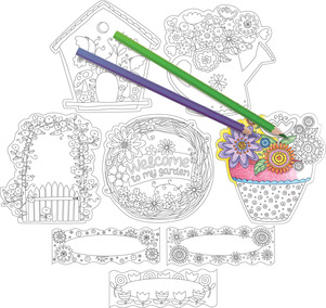 Color Me! In My Garden Double-Sided Accents picture