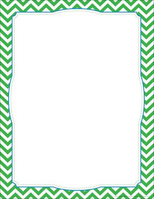 chevron green border chart picture