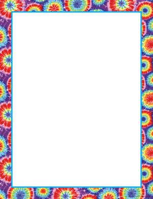 Tie-Dye Computer Paper picture