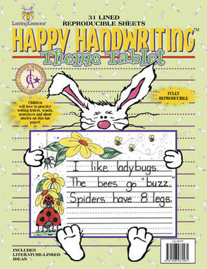 Happy Handwriting Theme Tablet (downloadable PDF) picture