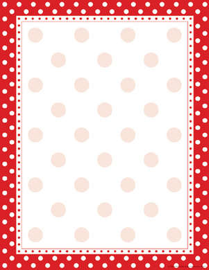 Red & White Dot Computer Paper picture