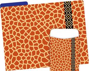 Folder/Pocket Set - Giraffe picture