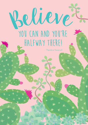 NEW! Poster - Believe You Can (Prickles) picture