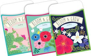 NEW! Peel & Stick - Petals & Prickles Library Pockets picture