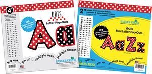 """Letter Pop-Outs Set - 2"""" & 4"""" Dots picture"""