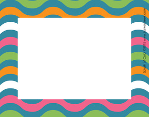 Splash of Color Name Tags picture