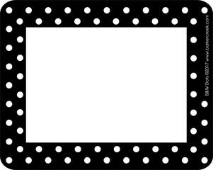 Black & White Dot Name Tag picture