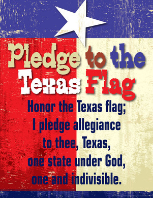 Pledge to the Texas Flag Chart picture