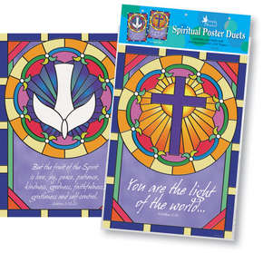NEW! Poster Duets- Stained Glass picture