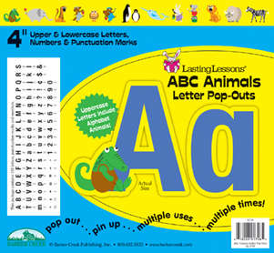 """ABC Animals 4"""" Letter Pop-Outs picture"""