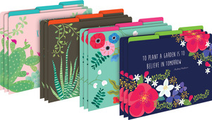 NEW!!  Petals & Prickles File Folders picture