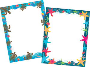 NEW! Kai Ola Sea Turtles and Starfish Computer Paper Set picture