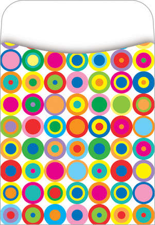 Peel & Stick! Disco Dots Library Pockets picture