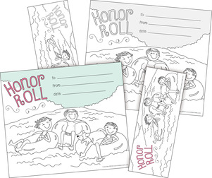 Color Me! Honor Roll Awards & Bookmarks Set picture