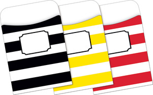 Peel & Stick - Wide Stripes Library Pockets picture