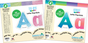 """NEW! Letter Set - 4"""" Tie-Dye and 4"""" Ombré picture"""