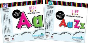 "Letter Pop-Outs Set - 2"" & 4"" Neon picture"