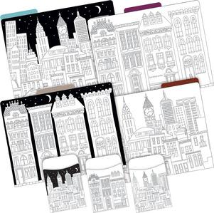 Folder/Pocket Set - Color Me! Cityscapes picture