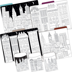 Folder/Pocket Set - Color Me! Cityscapes picture