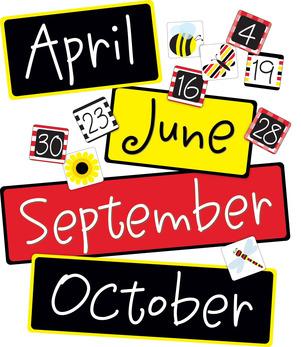 Buffalo Plaid & Wide Stripes Calendar Month & Number Set picture