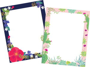 NEW! Petals & Prickles Computer Paper Set picture