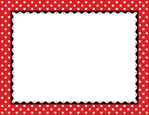 Just Dotty - Red & White Border Chart picture