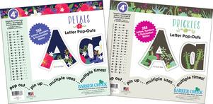 "NEW! Letter Set - 4"" Petals & 4"" Prickles picture"