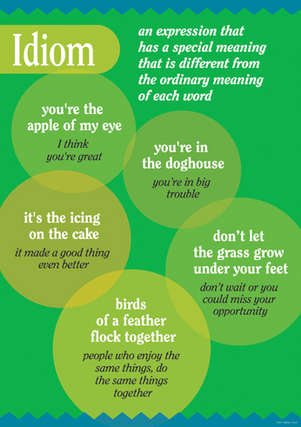 Grammar Poster - Idiom picture