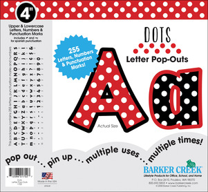 "Dots 4"" Letter Pop-Outs picture"