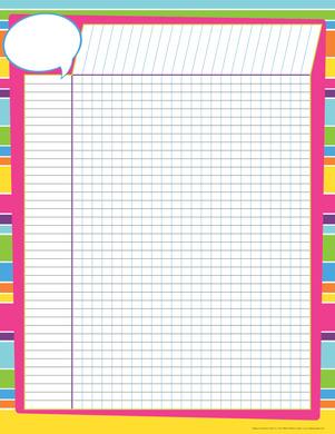 Incentive Chart - Happy Bright Stripes picture
