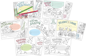 Color Me! Recognition Awards & Bookmarks Set picture