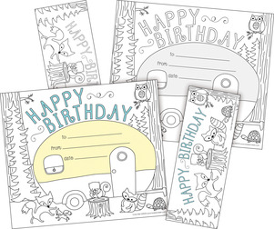 Color Me! Happy Birthday Awards & Bookmarks Set picture