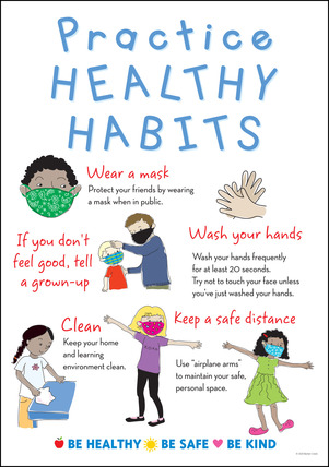 NEW! Poster - Practice Healthy Habits picture