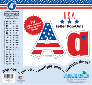 """USA 4"""" Letter Pop-Outs picture"""