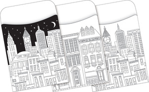 Peel & Stick - Color Me! Cityscapes Library Pockets picture