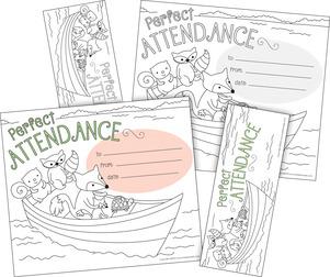 Color Me! Attendance Awards & Bookmarks Set picture