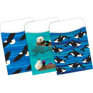 NEW! Peel & Stick - Sea & Sky Library Pockets picture