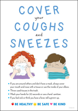 NEW! Poster - Cover Coughs & Sneezes picture