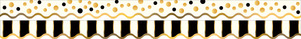 Gold Bars - Double-Sided Border / Scalloped Edge picture
