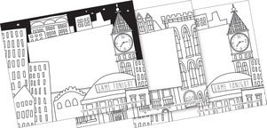 Color Me! Cityscapes Name Tags picture
