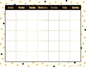Calendar Chart - Gold Dots picture
